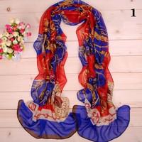 Hot Sale Fashion Scarves for Womens Chiffon Velvet Geometric Scarves Knife Print Solemn and Elegant Wholesale 10 pieces/lot