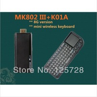 Rikomagic MK802 III +K01A  Dual Core Mini Android 4.1 PC RK3066 1.6Ghz Cortex A9 1GB RAM 8G ROM HDMI