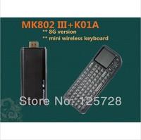 Rikomagic MK802 III +K01A  Dual Core Mini Android 4.1 PC RK3066 1.6Ghz Cortex A9 1GB RAM 8G ROM HDMI
