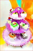 Free shipping cake stand Party favors birthday party cake stand 3 tier cake stand paper