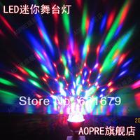 Freeshiping Led mini crystal magic ball light KTV laser light bar lights household lamp