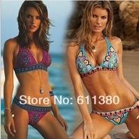 2014 NEW women swimwear women VS bikini sexy beach swim wear swimsuits Indian beachwear bathers free shipping