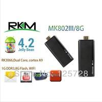 Rikomagic MK802 III Dual Core Mini Android 4.1 PC RK3066 1.6Ghz Cortex A9 1GB RAM 8G ROM HDMI