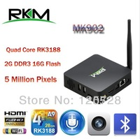 New Arrival! RKM MK902 Quad Core Android 4.2 RK3188 2G DDR3 16G ROM Bluetooth Build in Camera & Microphone