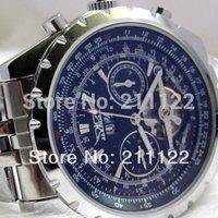 2014 luxury brand  watches JARAGAR mechanical watches tourbillon dual calendar watches men's steel wrist watches free shipping