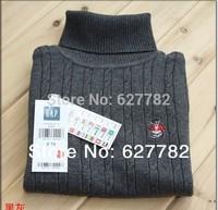 2014 new children's turtleneck sweater Autumn, Winter, 6 colours, Children clothing, girls sweater boy sweater free shipping