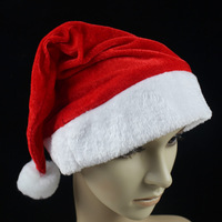 32g Christmas supplies gold velvet thickening quality plush christmas hats hat
