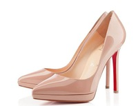 beige black  women red bottom pumps brand shoes for women high heels pointed-toe women pumps thin heels red sole pumps