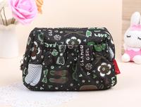 Free shipping new fashion high quality Denim cartoon cotton cloth ladies cosmetic bags leisure handbags package storage pack