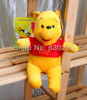 Free shipping Baby Cartoon Plush 25cm Winnie Bear Plush toy Children Cartoons Toys Birthday gifts 2pcs/lot