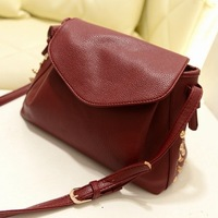 New Arrived 2014 fashion rivet messenger bag, vintage women's shoulder bag 3 color