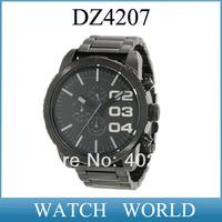 DZ4207 HK post Free shipping stainless steel strap DZ 4207 fashion men's watch Wristwatches +original box+logo