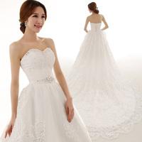 2014 new wedding dress/ Ultralarge luxury train dress/ tube top long trailing wedding dress