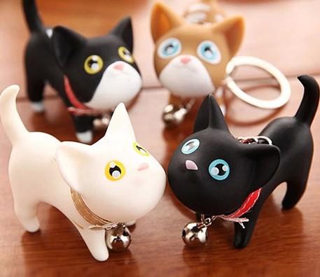 1pcs Birthday gift kate Cat Dog couple key chain small keychain ring Fashion Jewelry(China (Mainland))