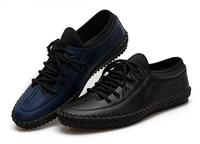 New 2014 Spring Men's Casual Urban Elegent Genuine Leather Designer Shoes Sneakers Sapatos