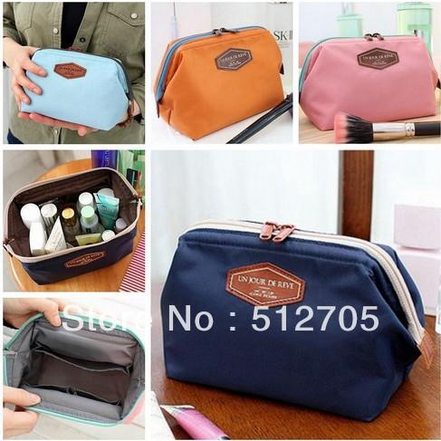 2014 Cosmetic Bag in Bag Beautician Neatly Collect Storage Handbags Good Quality Nylon Cosmetic&Sanitary Napkin Organizer Bags(China (Mainland))