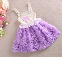 Retail 2014 new children Dress Girls Toddler Tutu Layered Princess Party Kids Formal Dress