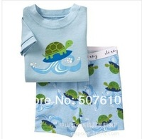 2014 new Baby pajamas Baby short sleeves sleepwear Children Pyjamas Children Sleepwear clothing set 6sets/lot J0-46
