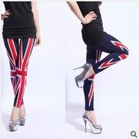 Fashion leggings spring big MiZiQi American flags printed leggings show thin printed nine minutes of pants