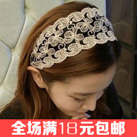 Free shipping Lace hairbands Wide bow headband Beautiful women hair accessories Exclusive hair decorations Popular head wraps