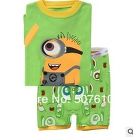 2014 new Baby pajamas Baby short sleeves sleepwear Children Pyjamas Children Sleepwear clothing set 6sets/lot J0-55