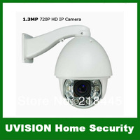CCTV 1/2.8 1.3MP 720P HD 20x Optical Zoom High Speed Dome IR IP PTZ Camera 150M IR distance free shipping