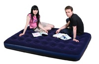 JILONG PVC inflatable air bed ,air mattress ,Camping bed ,top flocked ,1 person , Single size 191x73x22CM ,with repair patch