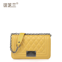 Free shipping-women's bags plaid women's handbag sheepskin bags fashion chain small bag