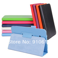 "PU Litchee Texture Leather Stand Case Cover Pouch For Samsung Galaxy Tab 3 Lite 7 T110 SM-T110 7"" inch Tablet PC"
