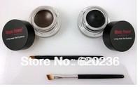 100Sets/lot HK Free Shipping 2013 New Fashion Black Eye Liner Waterproof Eyeliner Gel Makeup Cosmetic + Brush