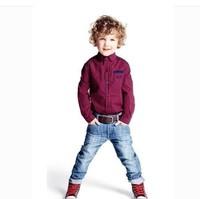 CS3165  Free shpping   Kids boys long sleeve plaid shirts boys shirts  chilren spring autumn shirt