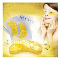 Hot selling Gold Crystal collagen Eye Mask Hotsale eye patches 20pcs=10packs Free shipping