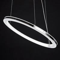 LED Chandelier, Modern Round Iron Acrylic Plating