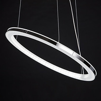 LED Chandelier, Modern Round Iron Acrylic Plating