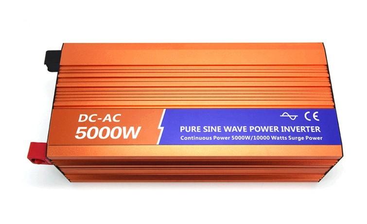 5000W/10KW 12Vdc to 120V 60HZ ac Pure Sine Wave Power Inverter (5000w/10000w peak power) Free shipping(China (Mainland))