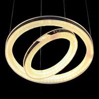 LED Chandelier, Modern Double-Circle Iron Acrylic Plating