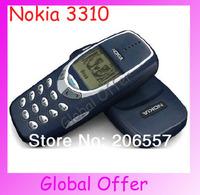 20pcs NOKIA 3310 Original Unlocked 3310 mobile phone Dualband Classic  Cheap Cell phone refurbished 1 year warranty