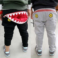5pcs/lot hot selling boys girls big mouth pocket pants for spring autumn