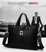 men's leather briefcase 100% genuine leather men bags business men messenger bags 2014030228E