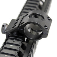 Tactical Shock proof Offset Recline Flashlight Mount 25.4mm 1inch Diameter Ring Fits 20mm  picatinny Rail