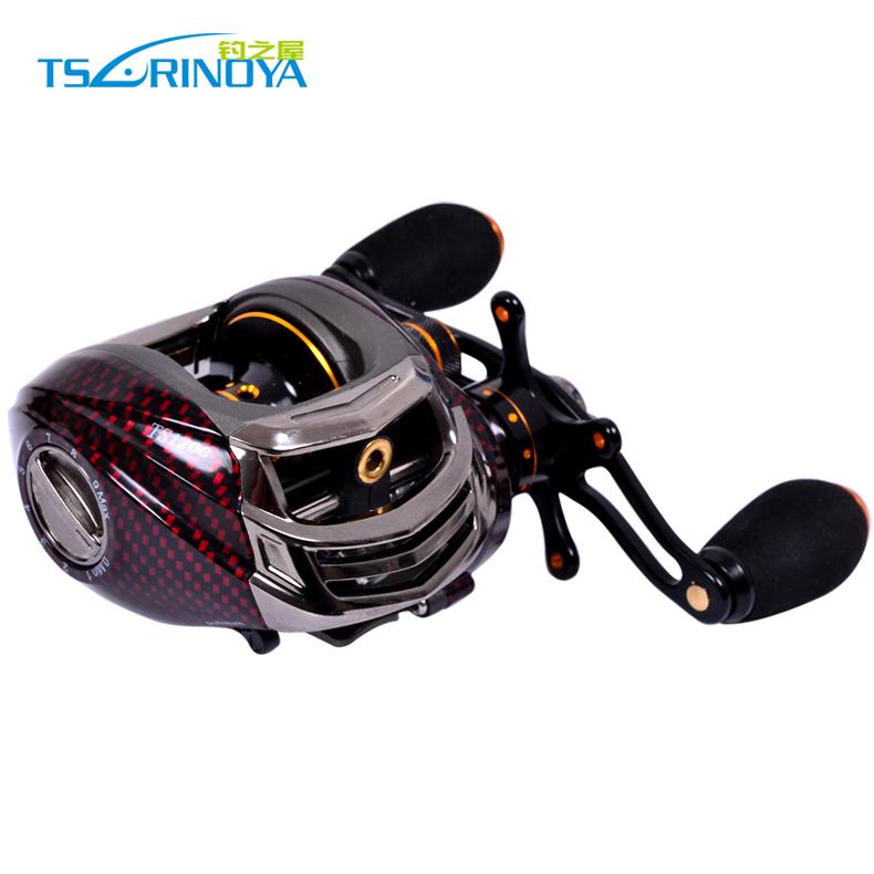 Tsulinoya TS1200 Baitcasting Fishing Reel Red 14BB Left Hand Version Low Profile Baitcaster(China (Mainland))