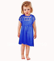 2014 summer new brand girl dress, high quality children lace dress, European style kids girls' dresses, designer dress girl