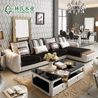 modern hight quality PU and fabric combination sofa, real material and solid substance, door to door by boat,DDU/DDP service