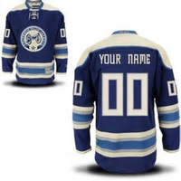 Custom COLUMBUS BLUE JACKETS Jersey Authentic Personalized - Hockey Jerseys Cheap ICE Jersey Number & Nane Sewn On (XS-5XL)