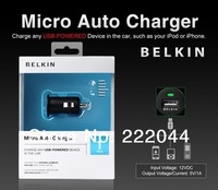 Belkin Car Charger Mini Universal USB Car Charger For Iphone 4G 3GS iPod iPhone5Add packaging box 500pcs/lot DHL Free shipping