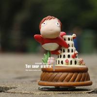 Classic Doll Hayao Miyazaki Series Ponyo on a Cliff Rotating Music Box Gift