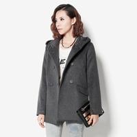 1212 fashion original design limited edition high quality overcoat grey outerwear female