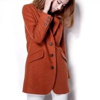 Classic handsome brief ol high quality woolen suit jacket overcoat