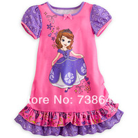 Free shipping 201 Summer Hot sell baby minnie snow white dress kids wear girls' Princess dress cartoon kids clothing Dresses