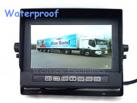 7inch Digital Waterproof Lcd Monitor,800*480,IP68,2 ch Video Inputs